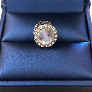 Pandora charm clear crystal with defect